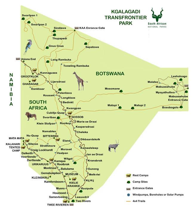 Kgalagadi Transfrontier Park & Augrabies Falls National Park